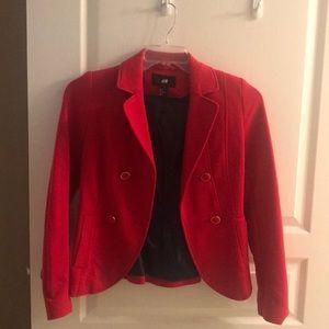 H & M size 2 red blazer